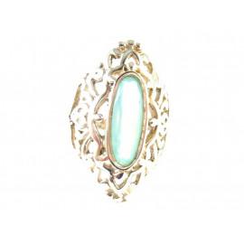 Stříbrný prsten s chalcedonem