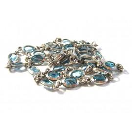 Stříbrný náhrdelník s topazy