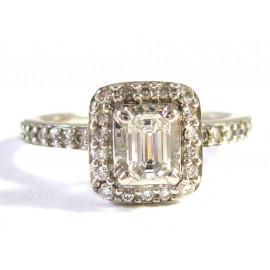 Starožitný 14 kt zlatý prsten s brilianty 0.57 kt