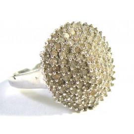 Starožitný 14 kt zlatý prsten s brilianty 1.00 kt