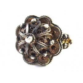 Vzácný stříbrný prsten z 2. poloviny 19. století