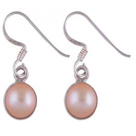Stříbrné naušnice s perlou