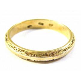 Unikátní stříbrný prsten s rytinou