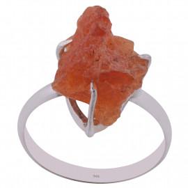 Stříbrný prsten s ohnivým opálem