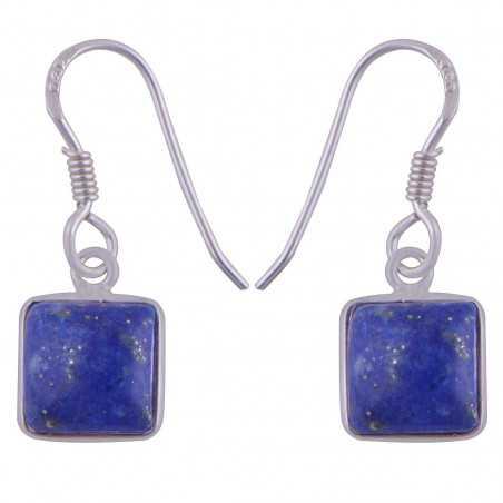 Stříbrné naušnice s lapis lazuli
