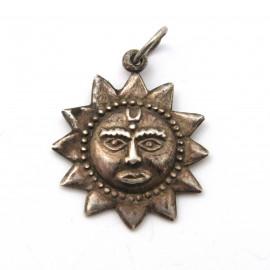 Stříbrný přívěsek slunce z Mexika