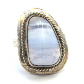 Stříbrný prsten s achátem