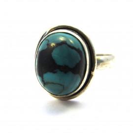 Stříbrný prsten s tyrkysem