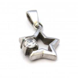 Stříbrný přívěsek hvězda s kříšťálem