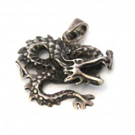 Stříbrný přívěsek drak