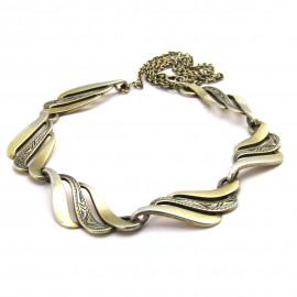 Stříbrný gravírovaný náhrdelník