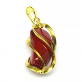 Přívěsek s červeným jaspisem v kleci