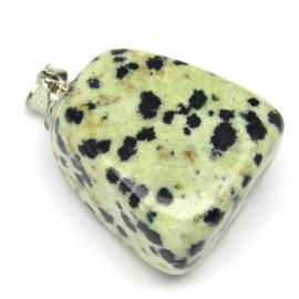 Stříbrný přívěsek s dalmatin jaspisem