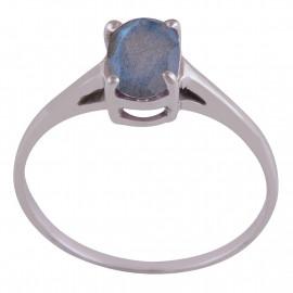 Stříbrný prsten s labradoritem