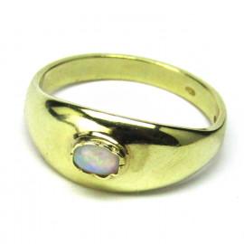 Zlatý 14 kt prsten s opály