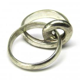Stříbrný dvojitý prsten