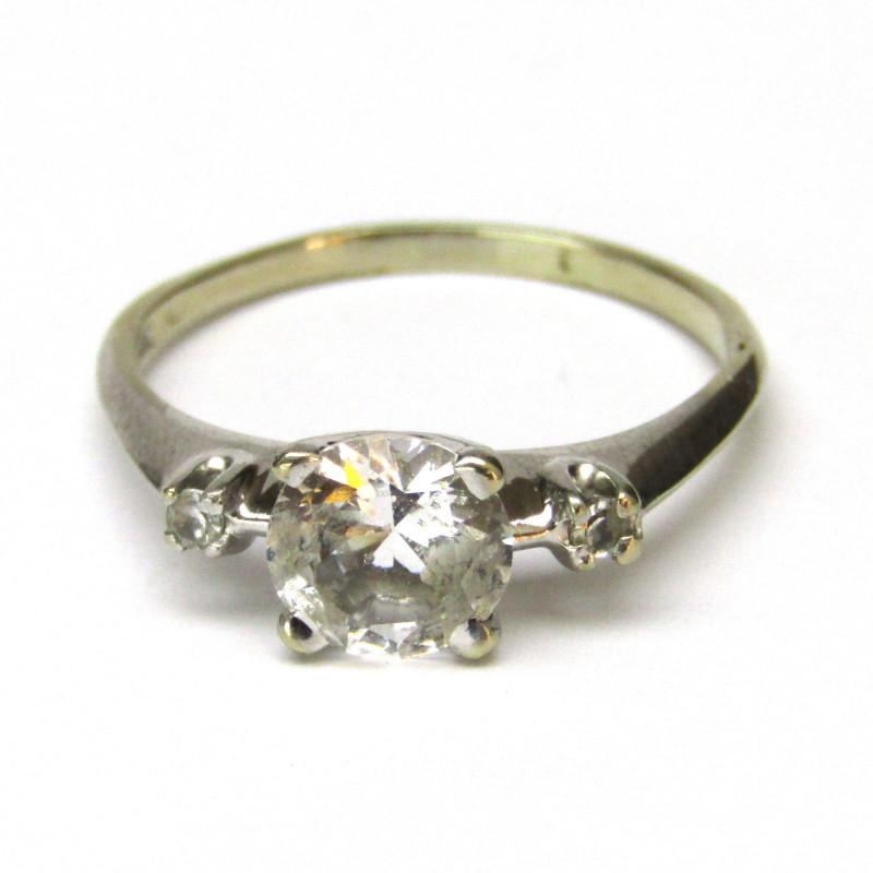 Zlatý prsten s akvamarínem
