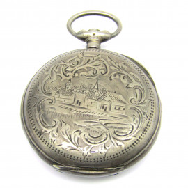 Stříbrné gravírované pouzdro od hodinek
