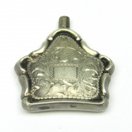 Stříbrný gravírovaný flakon na parfém