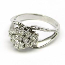 Luxusní zlatý briliantový prsten
