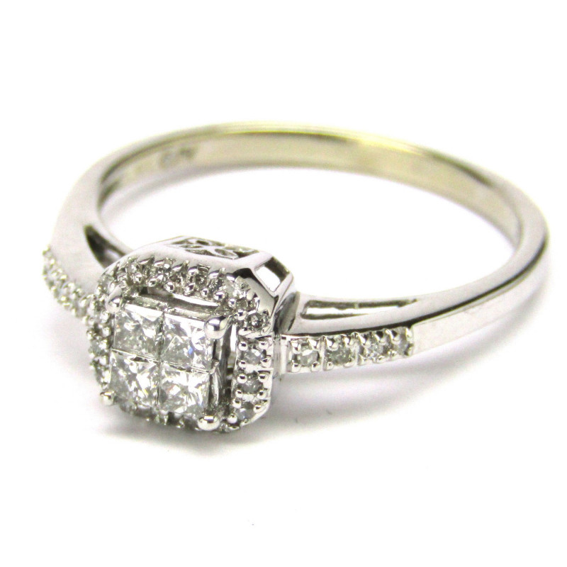 d2aa29085 Luxusní zlatý briliantový prsten