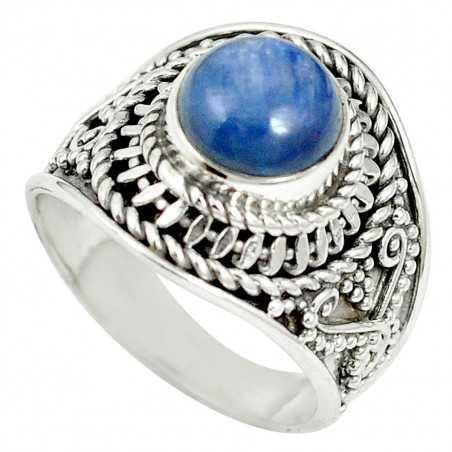 Stříbrný prsten s kyanitem