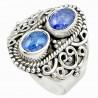 Stříbrný prsten s tanzanitem