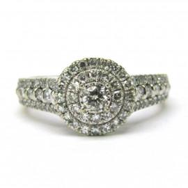Luxusní 14kt zlatý briliantový prsten 1.03 kt
