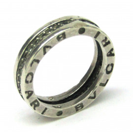 Stříbrný prsten Bvlgari