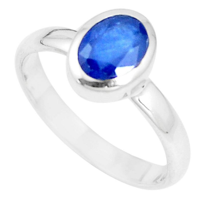 Stříbrný prsten se safírem 2.14 kt s certifikátem