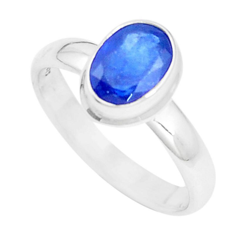 Stříbrný prsten se safírem 2.21 kt s certifikátem