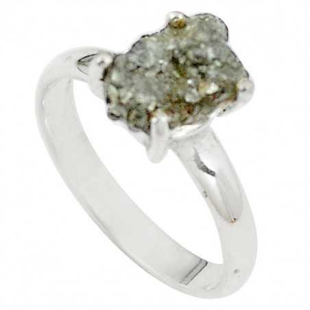 Stříbrný prsten s diamantem 2.93 kt s certifikátem