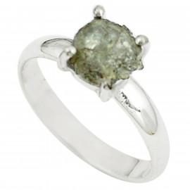 Stříbrný prsten s diamantem 2.72 kt s certifikátem