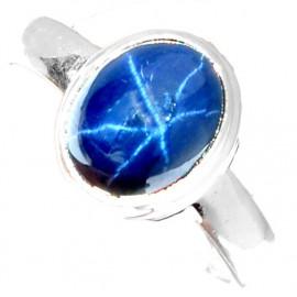 Stříbrný prsten se safírem 4.25 kt s certifikátem