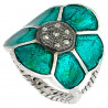 Stříbrný prsten s diamanty 0.20 kt