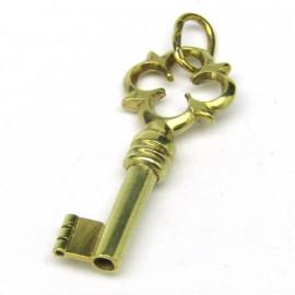 14 kt zlatý přívěsek klíč