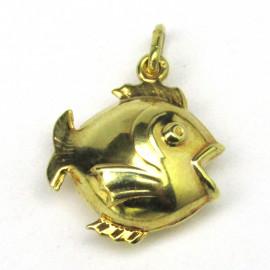14 kt zlatý přívěsek ryba