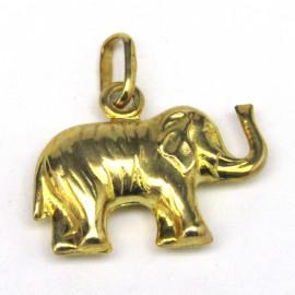 14 kt zlatý přívěsek slon