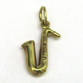 14 kt zlatý přívěsek saxofon