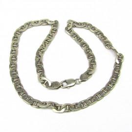 Stříbrný masivní řetěz