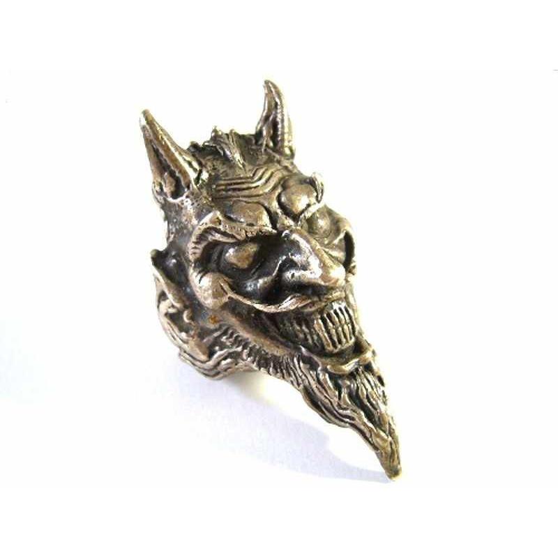 Unikátní starožitný stříbrný prsten čert