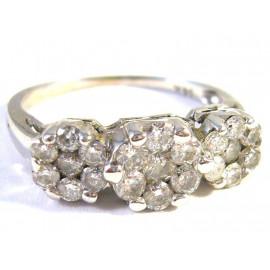 Luxusní starožitný zlatý briliantový prsten 0.83 kt