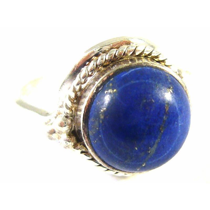 Stříbrný prsten s lapis lazuli