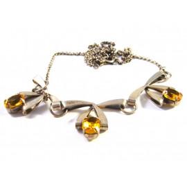 Starožitný náhrdelník s citríny.