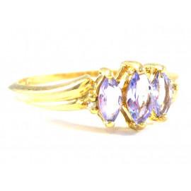 Zlatý prsten se vzácnými tanzanity