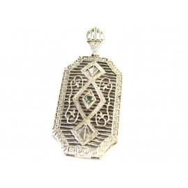 Stříbrný přívěs se smaragdem