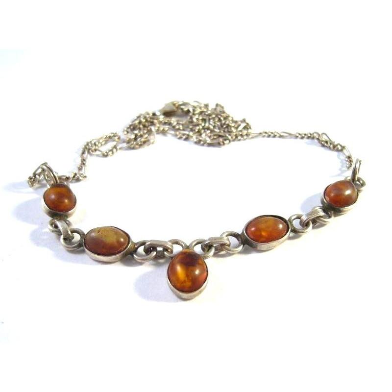 Starožitný náhrdelník s jantary