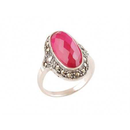 Stříbrný prsten se spinelem