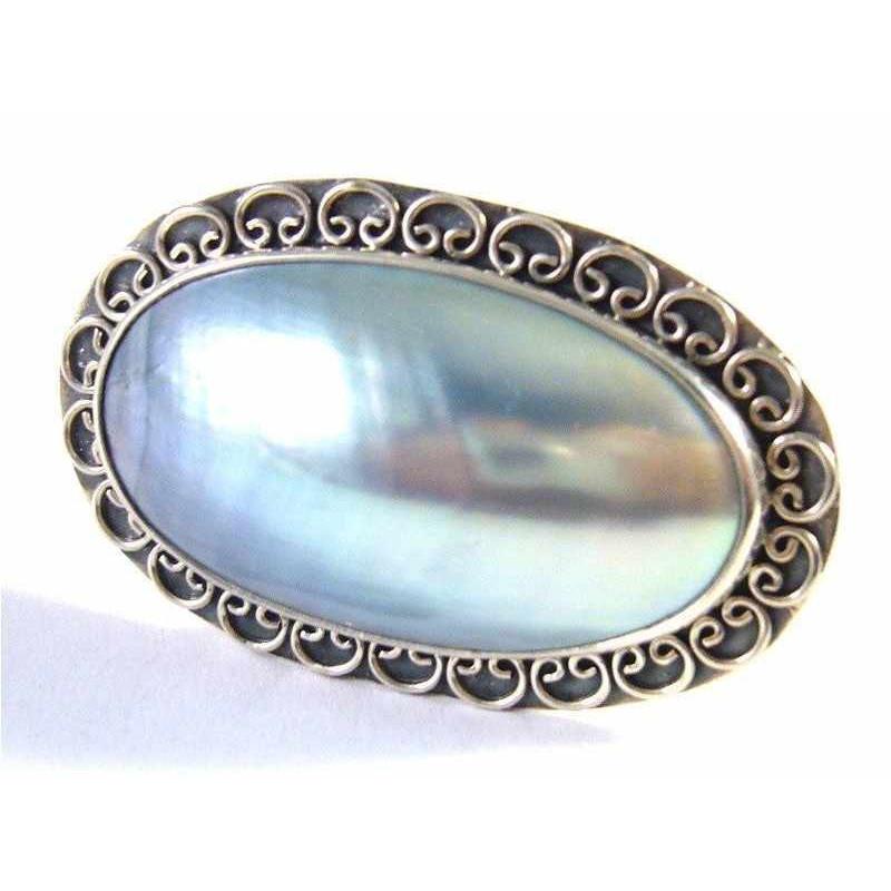 Stříbrný prsten s mořskou perletí