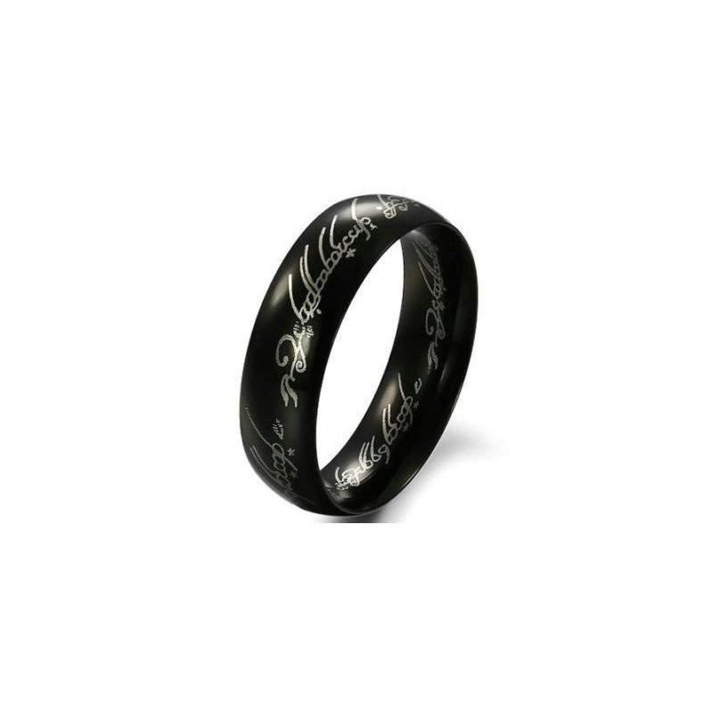 Černý ocelový prsten moci z Pána prstenů a Hobit